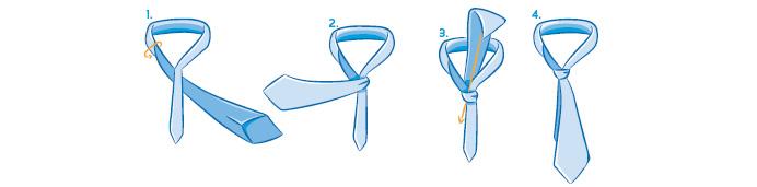 Nudos de corbata explicados paso a paso