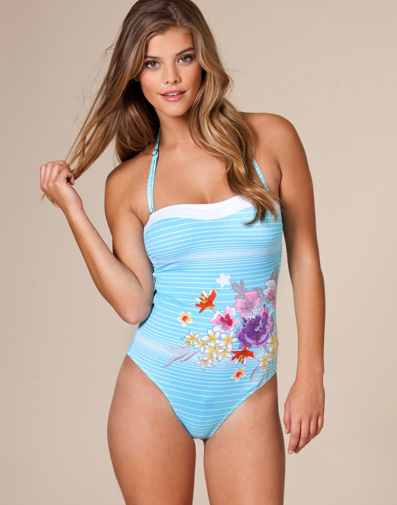 Fashion and models blog nina agdal swimsuit from nelly