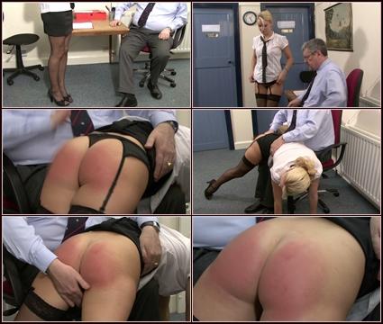 Thrashed Secretary  Spanking