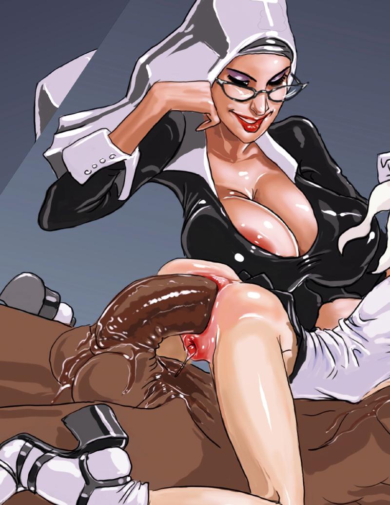 cartoon big cock anal - Large Dick Toons