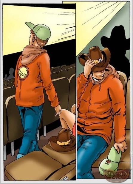 en el cine (comic color español Incesto)